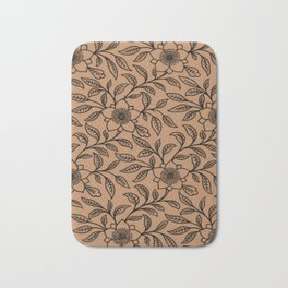 Butterum Lace Floral Bath Mat