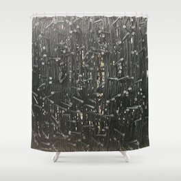 All Wires. Fashion Textures Shower Curtain