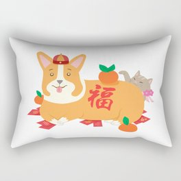 New Year CoCo and Luna Rectangular Pillow
