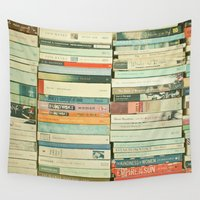 abstract Wall Tapestries featuring Bookworm by Cassia Beck