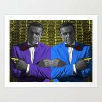 bond Art Prints featuring Bond by POP Prints by FMcLaws