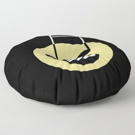 Musical smiley Floor Pillow