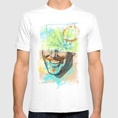Smiley Eye White MEDIUM Mens Fitted Tee
