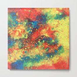 Print of painted abstract art Metal Print