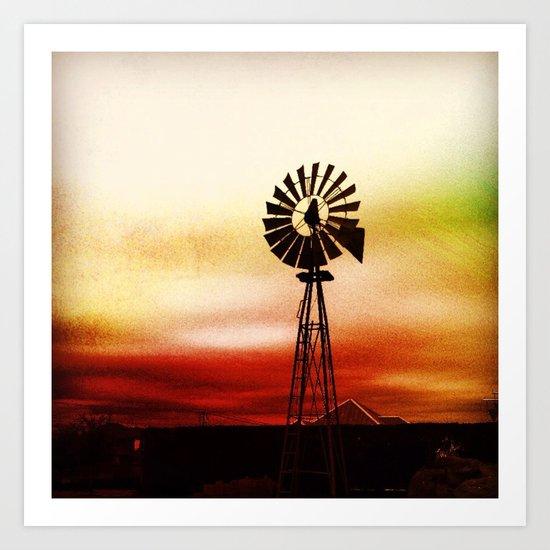 Windmill Colors Art Print