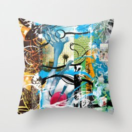 Exquisite Corpse: Round 2 Throw Pillow