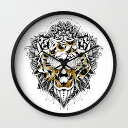 Gold Eyed Tiger Wall Clock