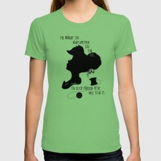 The Moment You Doubt You Can Fly MEDIUM Grass Womens Fitted Tee