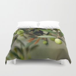 Olives On A Branch Duvet Cover