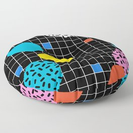 Couch Potato - memphis retro grid minimal trendy 80s throwback retro vibes 1980's style Floor Pillow