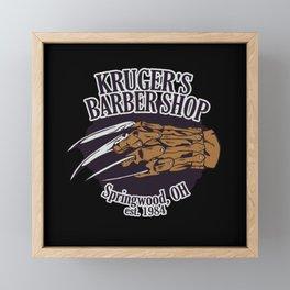 Kruger's Barbershop Framed Mini Art Print