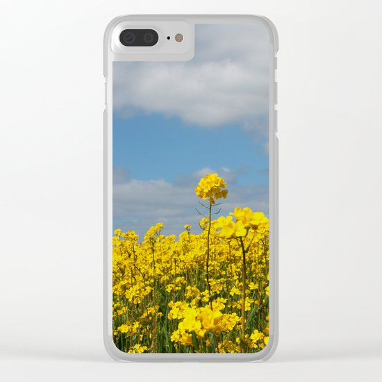 Rape yellow flowers Clear iPhone Case