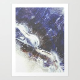 Blue River Ice Art Print