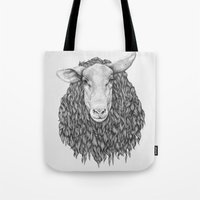 sheep Tote Bags featuring Sheep by Thea Nordal