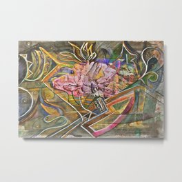 Rocky Abstract Metal Print