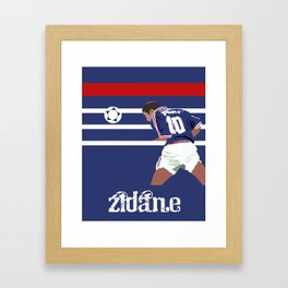 Zinedine Zidane: France 98 Framed Art Print