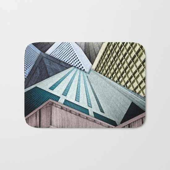 Angles of City Structures Bath Mat