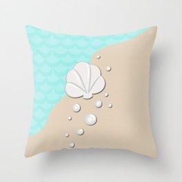 Seashell by the Seashore Throw Pillow