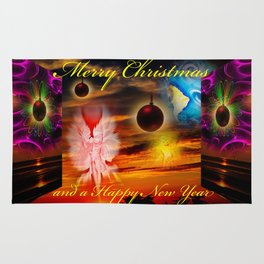 Merry Christmas and a Happy New Year Rug