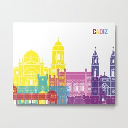 Cadiz skyline pop Metal Print