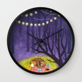 End of party Wall Clock