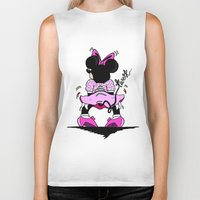 minnie mouse Biker Tanks featuring Minnie Mouse Gon Twerk Today by Shanice SB
