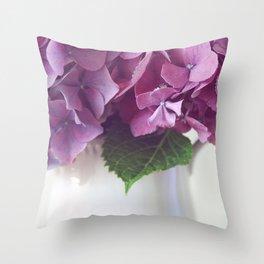 Daydreams in Hydrangea Throw Pillow