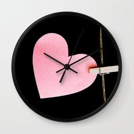 Heart of paper Wall Clock