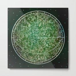 Zodiac Star Map Metal Print