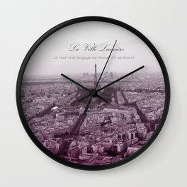 La Ville-Lumiére Wall Clock
