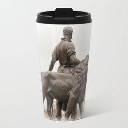 Victoria Memorial lion, London Travel Mug