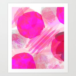 Pink Abstract Pattern Art Print