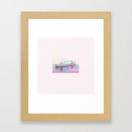 Colourful Canoeing Framed Art Print