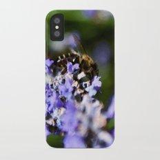 Bee on lavander iPhone X Slim Case