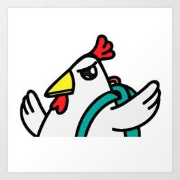 tyler duck Let's Fight!! Art Print