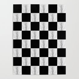 Checkerboard Pussy Poster