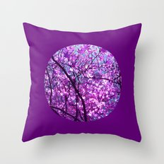 purple tree XXXIII Throw Pillow
