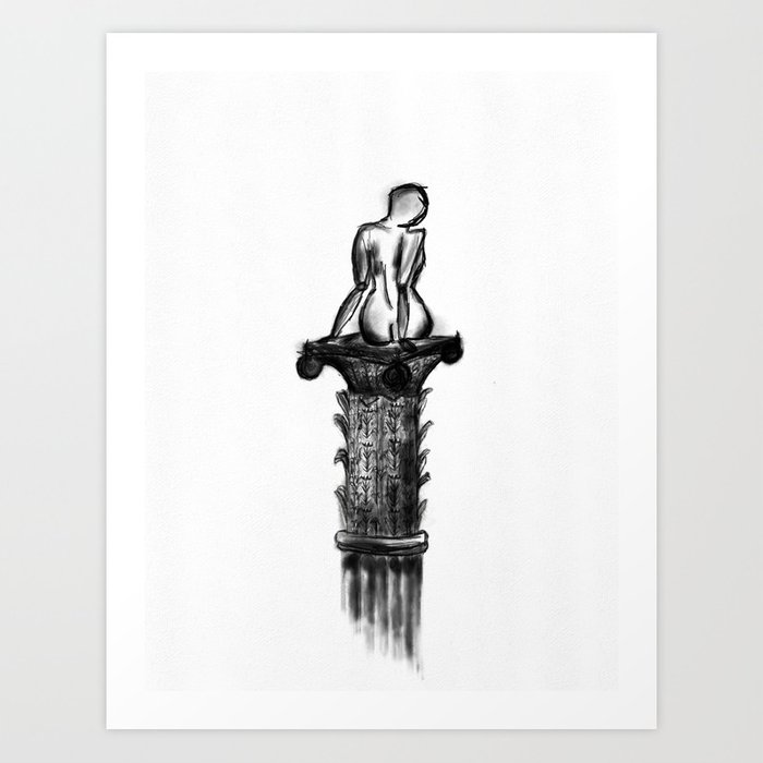 Woman On A Pedestal Art Print By Felicialarsson Society6
