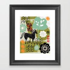 magical horse garden Framed Art Print