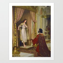 """Edmund Blair Leighton """"The King and the Beggar-maid"""" Art Print"""