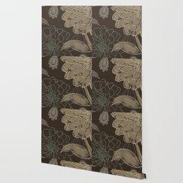 Cocoa Paisley II Wallpaper