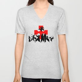 Fire Force First Anime Intro Image Unisex V-Neck