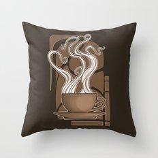 Coffee Nouveau Throw Pillow