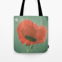 poppy Tote Bags featuring Poppy by Cassia Beck