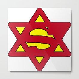 Superjew Jew Superman Comic Metal Print
