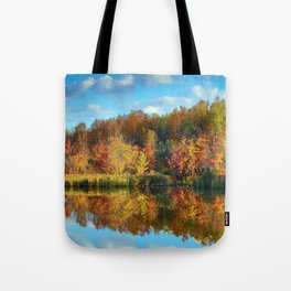 Vibrant Autumn Reflections Tote Bag