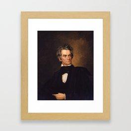 John C. Calhoun Framed Art Print