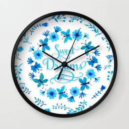 Sweet Dreams - Blue Wall Clock