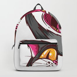 Yawning psychedelic cat - on LSD and ecstasy Backpack