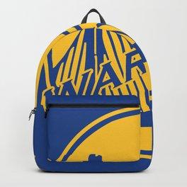 Golden State blue basketball logo Backpack